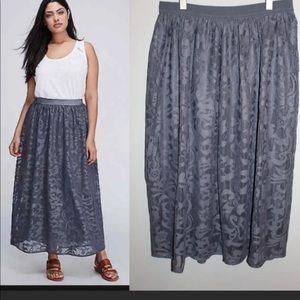 Lane Bryant Lace Maxi Skirt Size 18 NWOT